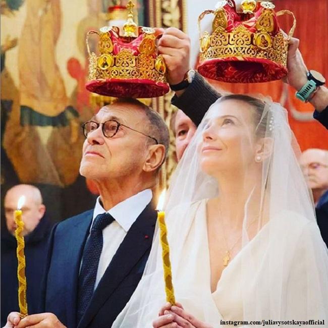 The wedding of Yulia Vysotskaya and Andrei Konchalovsky