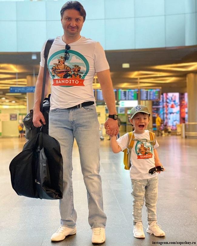 Эдгард Запашный с сыном Даниэлем