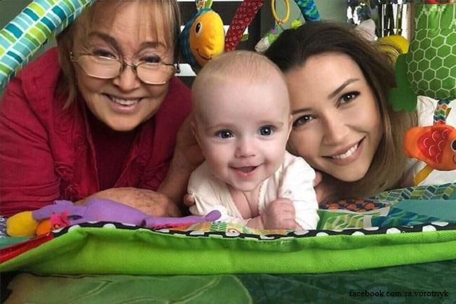Валентина Заворотнюк с внучками Милой и Анной