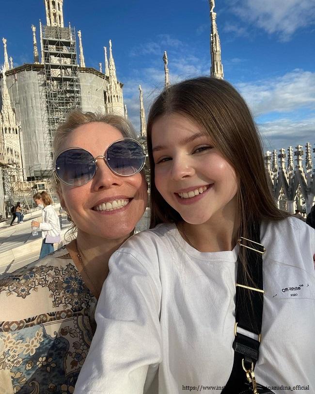 Марина Зудина с дочерью
