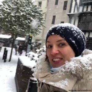 Подробнее: Ксению Алферову занесло снегом в Лондоне
