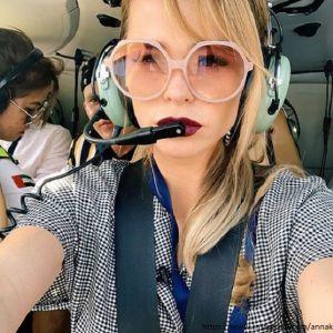 Подробнее: Анна Хилькевич села за штурвал вертолета