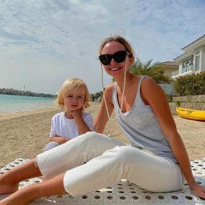 Подробнее: Стефания Маликова проводит время на берегу моря с 2-летним братом