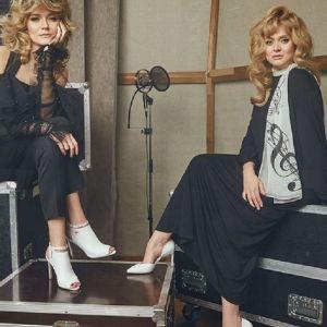 Подробнее: Анна и Надежда Михалковы снялись в любимых нарядах и моделях обуви Аллы Пугачевой
