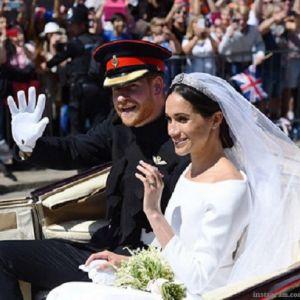 Подробнее: Подробности свадебного образа  теперь уже жены принца Гарри  герцогини Сассекской