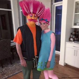 Подробнее: Кира Пластинина вместе с мужем отметили Хеллоуин  в образе троллей